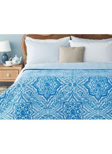 Madame Coco Cadance Çok Amaçlı Tek Kişilik Yatak Örtüsü - Mavi Mavi